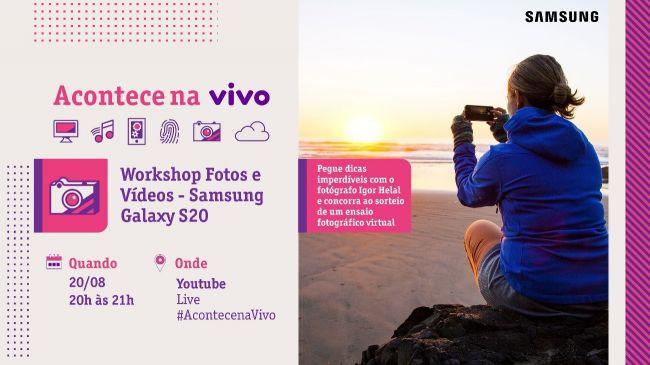 Além de participar da live, público irá concorrer ao sorteio de um galaxy S 20. Foto: Divulgação/Vivo