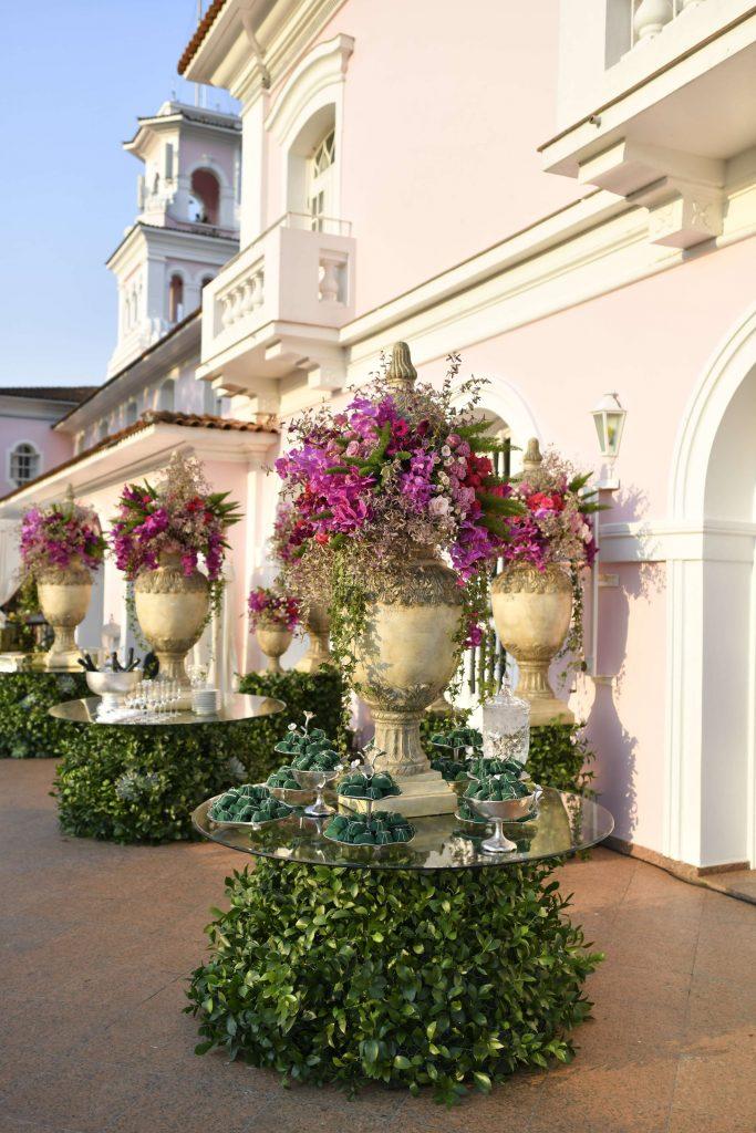 Jardim faz parte da decoração. Foto: Divulgação/Flores pelo Brasil