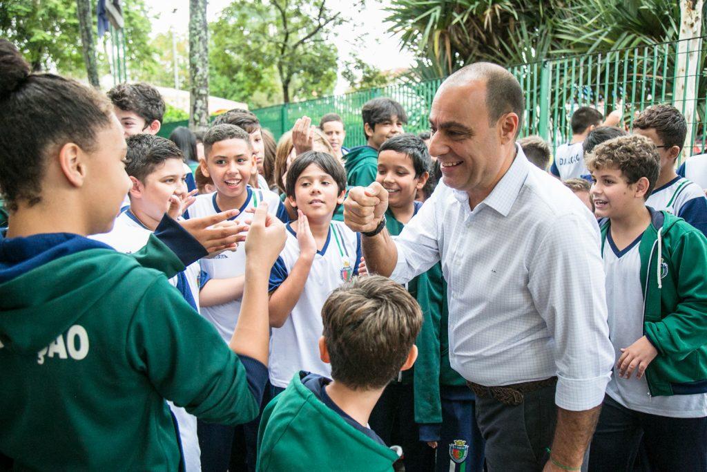 Diversas ações contribuíram para melhorar a educação na cidade. (Foto tirada antes da pandemia). Foto: Divulgação/PMSCSpara melhorar a educação na cidade.