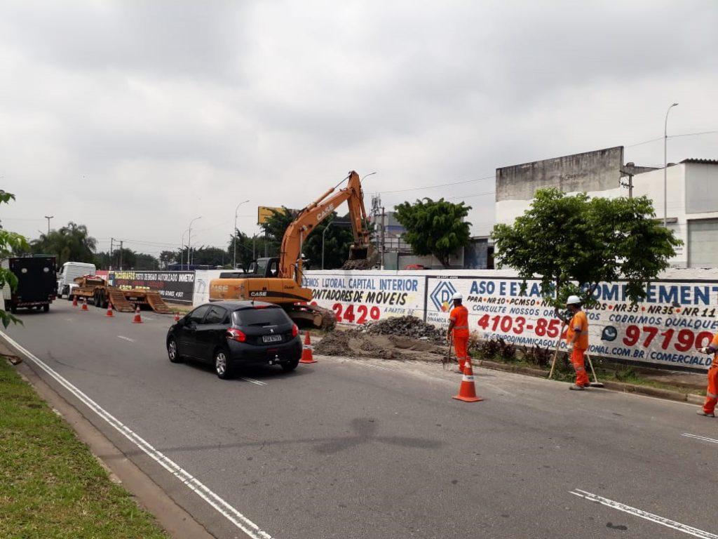 Trecho em obras está localizado na Vila Palmares. Foto: Divulgação/Semasa