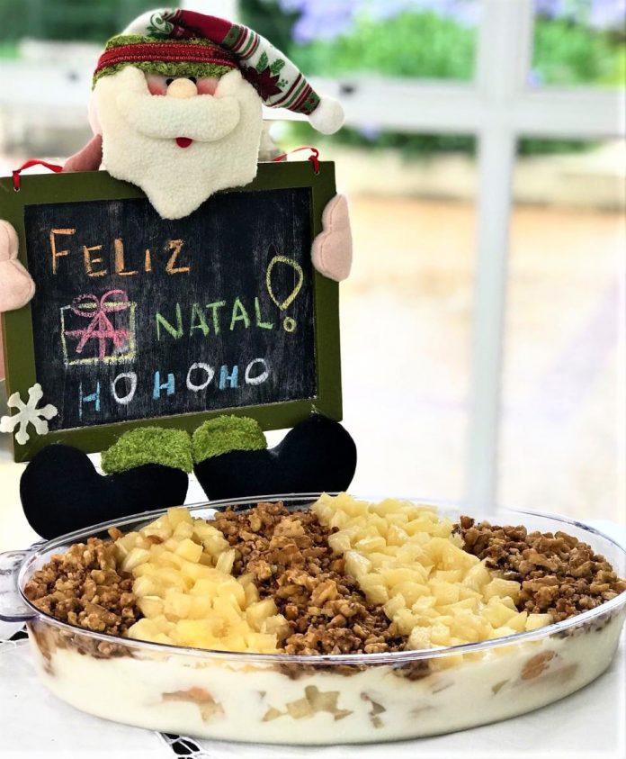 O Gelado de abacaxi é uma das opções de sobremesas. Foto: Divulgação