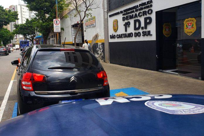 Veículo usado pelos assaltantes. Foto: Divulgação/GCM SCS