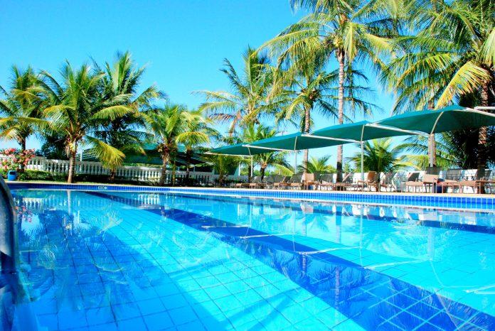 Uma das piscinas do Brotas Eco Hotel Fazenda. Foto: Divulgação