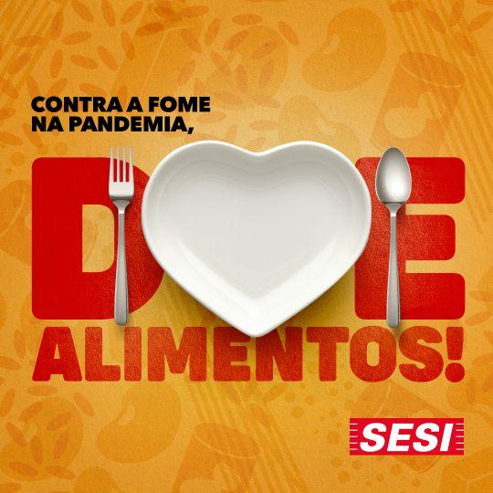 Logo da Campanha - Doe Alimentos! Sesi-SP. Foto: Divulgação