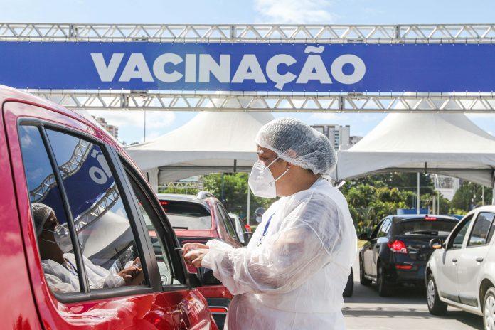 Vacinação no Paço Municipal de São Bernardo. Foto: Gabriel Inamine/PMSBC