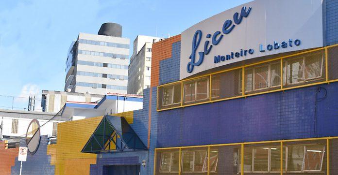 Fachada do Colégio Liceu Monteiro Lobato. Foto: Divulgação