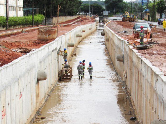 Obras do Complexo Viário Cassaquera. Foto: Divulgação/Semasa