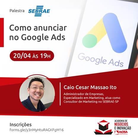 Evento acontece na próxima quarta-feira, dia 20/04. Foto: Divulgação/ACISA