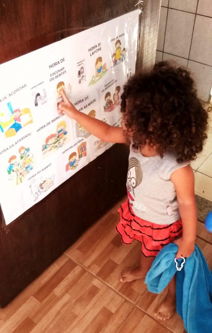 Isabella, de 2 anos é uma das alunas. Foto: Divulgação/PMRP