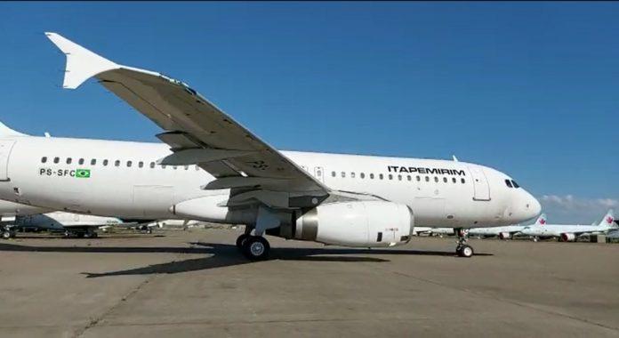 Airbus A320 da companhia chegou ao aeroporto do Galeão, no Rio de Janeiro, na madrugada deste domingo. Foto: Divulgação