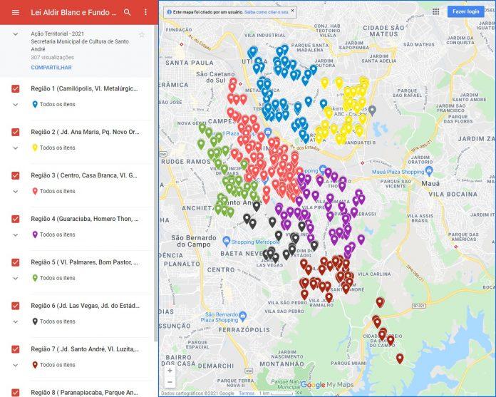 Ações realizadas via editais Lei Aldir Blanc e Fundo de Cultura estão geolocalizadas no território da cidade. Foto: Divulgação/PSA