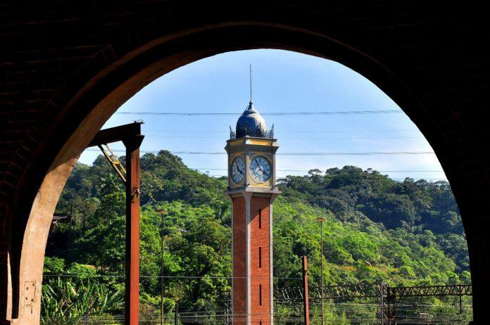 Torre do relógio de Paranapiacaba. Foto: Angelo Baima/PSA