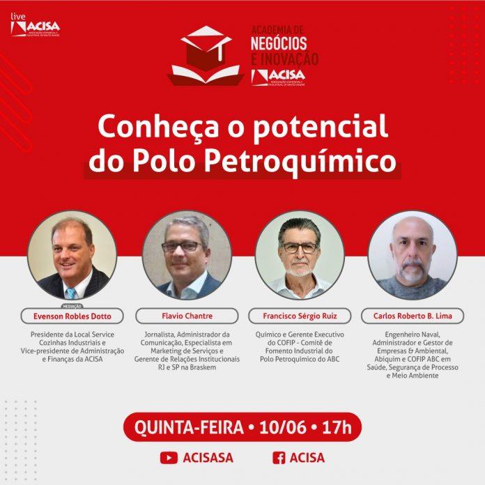 Live acontece na próxima quinta-feira, 10/06. Foto: Divulgação/ACISA