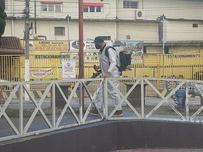 Equipes atuaram na região central, praças e áreas comerciais de grande circulação de pessoas. Foto: Divulgação/PMRP