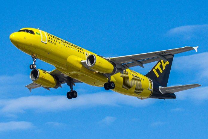 Novo Airbus A320 da frota irá aumentar número de frequências atendidas pela mais nova companhia aérea brasileira. Foto: Divulgação