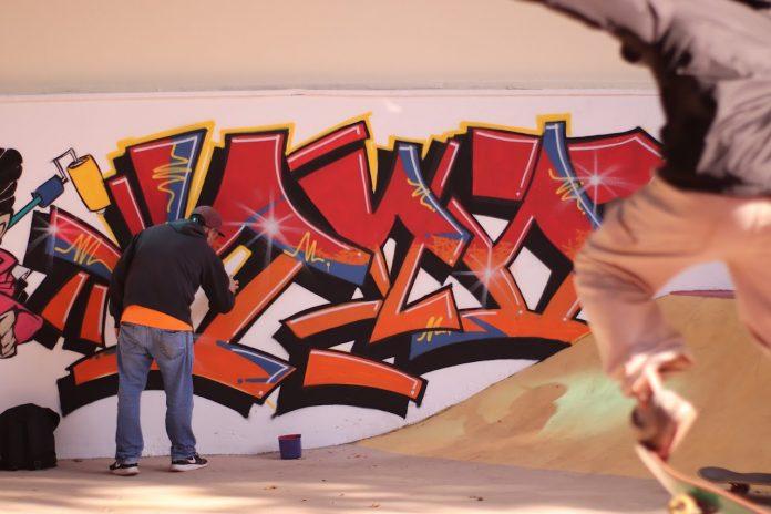 Intervenções em graffiti são destaque na revitalização do local. Foto: Rogério Padial