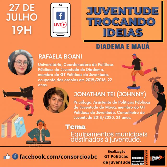 Evento será transmitido ao vivo na página da entidade regional no Facebook. Arte: Divulgação/Consórcio ABC