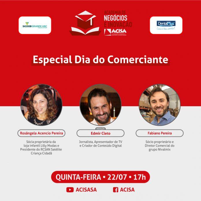 Live acontece na próxima quinta, 22/07. Arte: Divulgação/ACISA