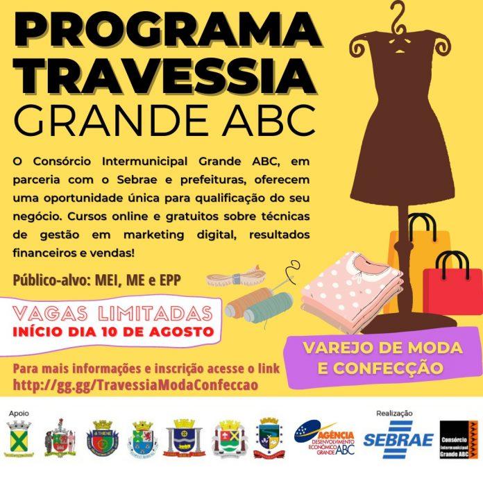 Iniciativa é desenvolvida pelo Consórcio ABC e secretarias municipais de Desenvolvimento, em parceria com o Sebrae e apoio da Agência de Desenvolvimento Econômico. Arte: Divulgação/Consórcio ABC