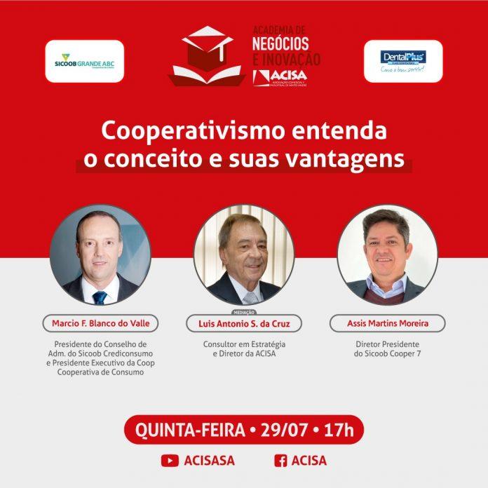 Evento acontece na próxima quinta-feira, 29/07. Arte: Divulgação/ACISA