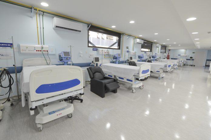 Leitos do Hospital Anchieta. Foto: Ricardo Cassin/PMSBC