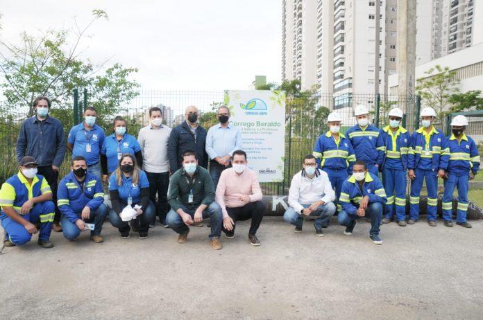 Companhia comemora dois anos no município elevando para 65% o índice de esgoto tratado e com mais benefícios ao meio ambiente e à qualidade de vida. Foto: Angelo Baima/PSA