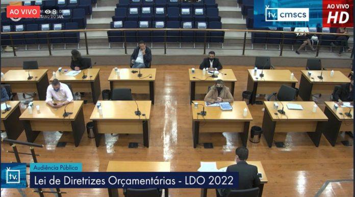 Audiência teve como objetivo detalhar a Lei de Diretrizes Orçamentárias. Foto: Divulgação/PMSCS
