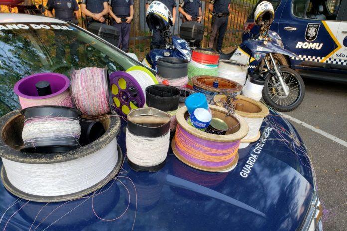Ação aconteceu neste final de semana e teve como objetivo garantir a segurança durante a brincadeira. Foto: Ricardo Quiles / GCM / PMSCS
