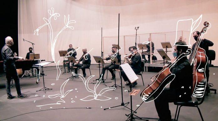 Obras interpretadas pela orquestra e por Fernando Lauria, com montagem do artista visual Lucas Lima, serão apresentadas no YouTube. Foto: Divulgação/PSA