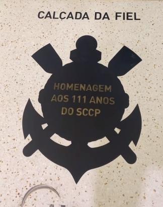 Para celebrar seus 111 anos, o Timão e a Midea, patrocinadora do clube, inauguram a Calçada da Fiel, um espaço permanente localizado na Neo Química Arena que vai homenagear 111 craques da história do Corinthians. Foto: Divulgação