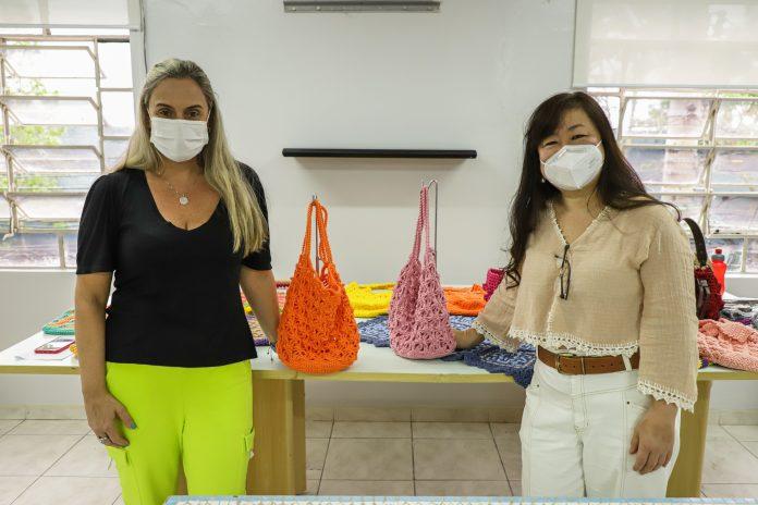 Workshop de Crochê. Foto: Letícia Teixeira /PMSCS