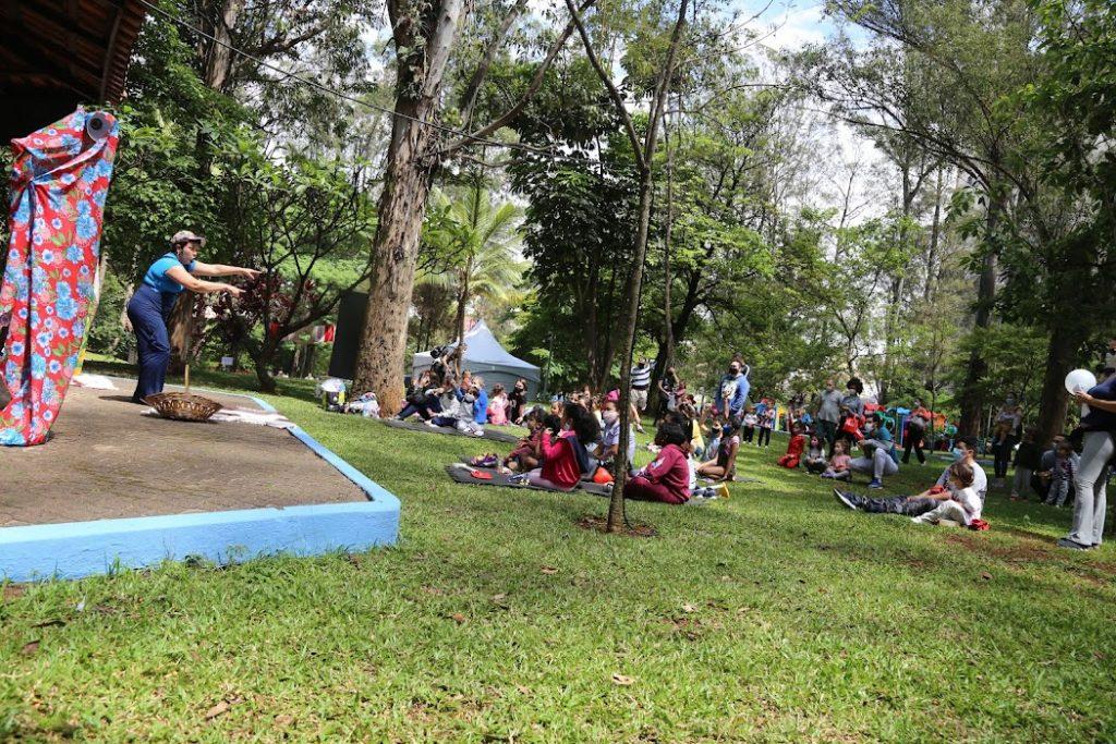 Atividades ao ar livre foram realizadas no Parque Cidade das Crianças. Foto:  Regina Maria Secult/ PMSCS