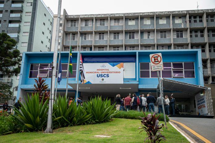 Hospital Universitário da USCS. Foto: Letícia Teixeira/PMSCS
